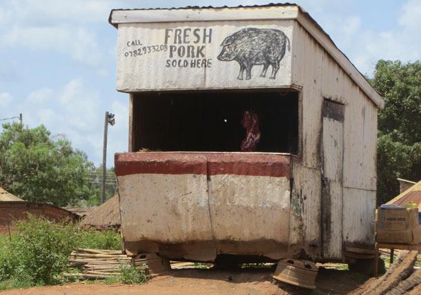 Boucherie à Gulu, Ouganda