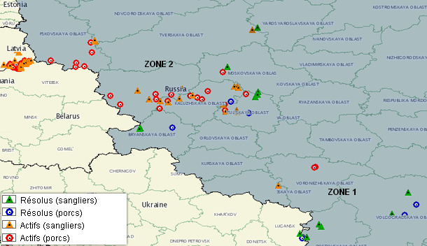 Cas de PPA en Russie en 2014