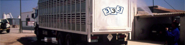 Désinfection d'un camion