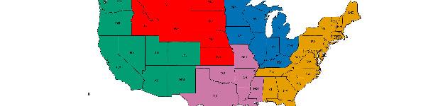 Régions vétérinaires de l'USDA-APHIS
