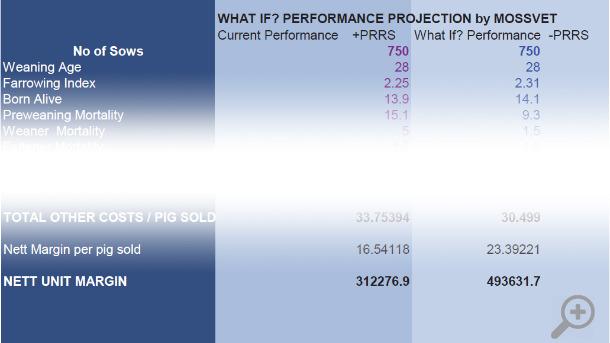 Calculateur des coûts estimés de l'infection par le SDRP