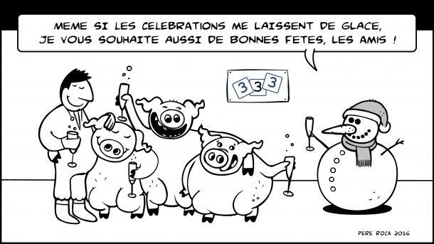¡L'équipe de 333 vous souhaite de joyeuses fêtes !