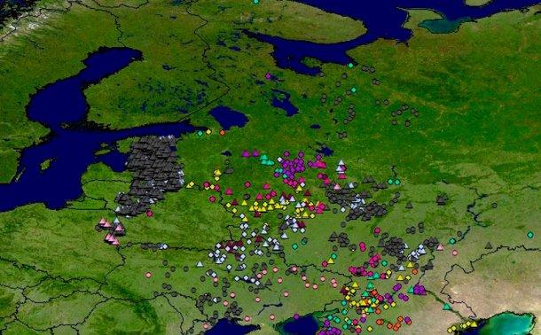 Figure 1: Propagation de la PPA au Nord de l'Europe dans la période 2014-2017