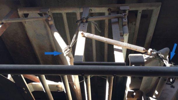 Photo 3. Au début de l'entraînement, les portes pleines sont laissées légèrement entrouvertes.