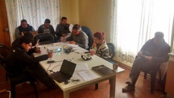 Réalisation de cours spécifiques pour les équipes de travail. Source : Reinaldo Cubillos