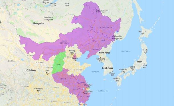 Provinces et communes autonomes touchées par la PPA.