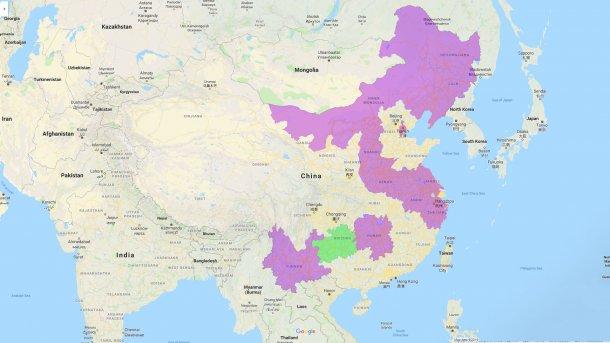 ppa chine provinces touchées