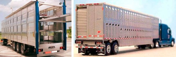 Image 3. Camion utilisé en Europe. Sourve: NEWNION , Image 4.Camion utilisé en Amérique du Nord.. Source: Illinois Truck Enforcement Association