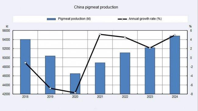 Production de viande de porc en Chine