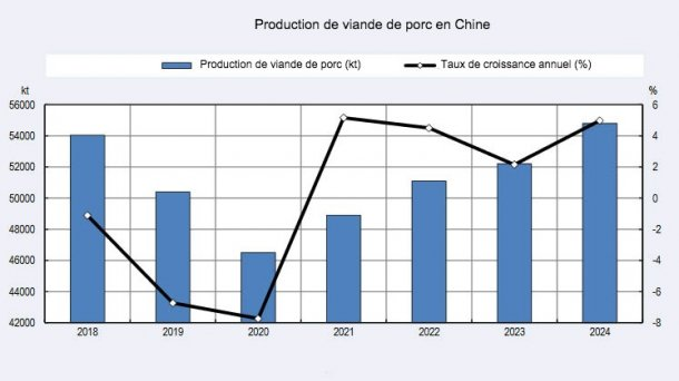 Production de viande de porc en Chine