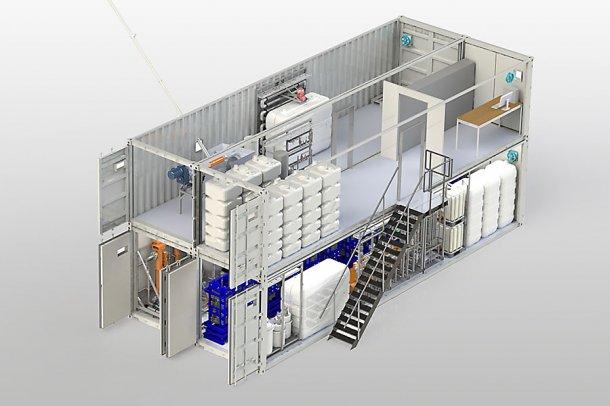 Le système MemFis est installé de façon compacte et nécessite peu d'espace